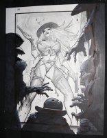 Fistful of Blood #1 p.20 - Blondie vs. the Undead Splash - Written by Kevin Eastman - 2002 Comic Art