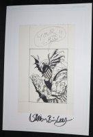 ''You're Late, Bisley!'' Death Dealer Demon - Signed Comic Art