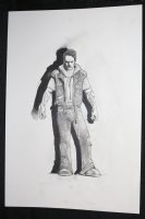 Angel and Demon Tattoed Arms Guy Character Design - Signed Comic Art