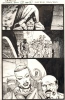 The Tower Chronicles: Geisthawk #3 p.1 - Ink Art Only - John Tower Cornered - 2013 Comic Art