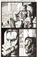 The Tower Chronicles: Geisthawk #3 p.39 - Ink Art Only - John Tower Drinking - 2013 Comic Art