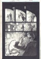 Hellblazer #259 p.10 - John Constantine Kisses Babe Who Turns into a Monster Splash - 2009  Comic Art