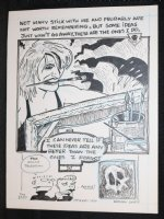 Underground Story End Page Splash - 1990 Signed Comic Art