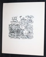 Farm Fresh Car Buyer - Signed Comic Art