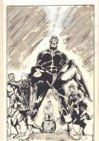 X-Men #136 Cover Re-creation - John Byrne / Terry Austin Homage - Signed Comic Art