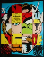 Marvel Hero Portrait Composite Large Sized Poster - A Marvel-ous Evening with Stan Lee at Carnegie Hall - 1972 Comic Art