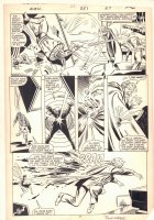 Avengers #251 p.20 - Wasp vs. Baron Brimstone - 1985 Signed Comic Art
