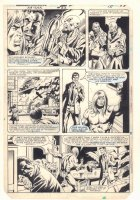 Ka-Zar the Savage #23 p.15 - Ka-Zar - Sketches on Back - 1983 Comic Art
