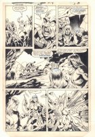 Ka-Zar the Savage #24 p.3 - Ka-Zar, Ramona Starr of A.I.M., and Zabu Action - 1983 Comic Art