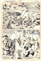 Thor Annual #10 p.30 - Thor vs. Demogorge - 1982 Comic Art