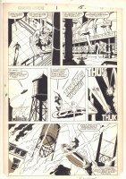 Squadron Supreme #1 p.15 - Chasing the Villain - 1985 Signed Comic Art