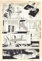 West Coast Avengers #2 p.19 - Hawkeye, Iron Man (Jim Rhodes), and Mockingbird corner the Blank - 1984 Signed Comic Art
