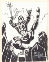 Spider-Man Webslinging Commission - Signed Comic Art