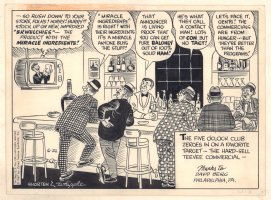 There Oughta Be a Law! ? Daily Strip - TV Commercial in Bar - Thanks to David Berg - 6/21/1967 Signed Comic Art