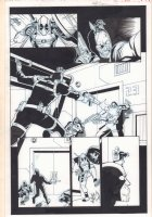 Cable & Deadpool #38 p.13 - Blue Line Ink Art Only of Reilly Brown Pencils - Shrunken Deadpool Controlling Bob, Agent of Hydra - 2007 Comic Art