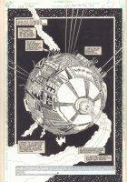 The New Titans #104 p.1 - Prologue Spaceship Title Splash - 1993 Comic Art