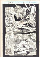 Morbius: The Living Vampire #22 p.7 - Vic Slaughter vs. Randolph with Disguise Off - 1994 Comic Art