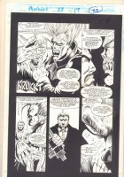 Morbius: The Living Vampire #22 p.22 - Vic Slaughter with CIA Agents - 1994 Comic Art