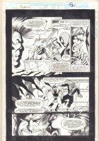 Morbius: The Living Vampire #23 p.3 -Morbius: The Living Vampire #23 p.3 - Spider-Man Interrogation - 1994 Comic Art