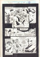 Morbius: The Living Vampire #23 p.11 - CIA Agents in Safehouse with Martine Bancroft Captured - 1994 Comic Art
