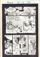 Morbius: The Living Vampire #23 p.18 - Vic Slaughter and Spider-Man Action - 1994  Comic Art