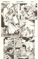 Conan the Cimmerian #14 p.15 - Conan's Mom Spears Monster - 2009 Signed Comic Art