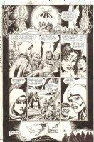 JLA: Gatekeeper #3 p.48 - Dr. Fate, Green Lantern, Wonder Woman, Superman, & Batman End Page - 2002 Comic Art