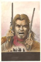 Jonah Hex, The Outlaw Josey Wales Homage Color Piece - 2004 Signed Comic Art