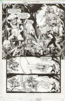 JLA Gatekeeper #2 p.04 Great Aquaman & Green Lantern vs Monster Comic Art