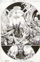 JLA Gatekeeper #1 p.37 Great Villian Monster Splash Comic Art