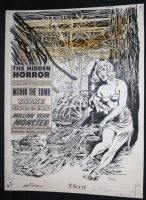 Shock Magazine Vol. 1 #3 Cover - LA - Horror - Sexy Babe Attacked by Swamp Monster - 1969 Signed