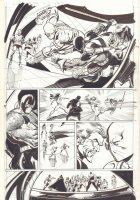 Deadshot vs. Deathstroke - Bane, Captain Boomerang, Black Manta, and Others - 2015 Signed Comic Art
