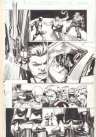 Convergence Suicide Squad #2 p.4- Amanda Waller, Deadshot, Deathstroke, Bane, Black Manta, and More Villains - 2015 Signed Comic Art
