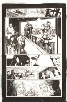 Convergence Suicide Squad #1 p.17 - Amanda Waller, Deadshot, Captain Boomerang, Poison Ivy, & Others - 2015 Signed Comic Art