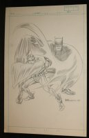 Batman and Robin Pencil Piece - 1987 Signed Comic Art
