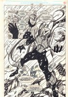 Alpha Flight #108 p.22 - Master of the World and Brain Drain Splash - 1992 Comic Art