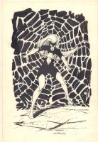 Spider-Woman Full Figure Commission - 1986 Signed Comic Art