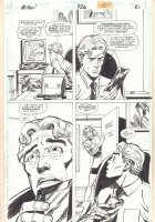 Action Comics #726 p.21 - Jimmy Olsen - Great Superman Drawing on Back - 1996  Comic Art