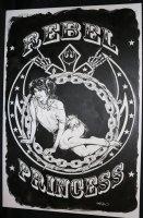 Star Wars Rebel Princess Merchandise / T-Shirt Art - LA - Famous Carrie Fisher Modeling Pose - Signed