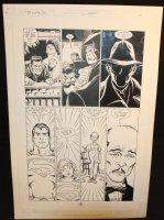 Legends of the Dark Knight #16 p.21 - LA - Superman Dream Hallucination Cameo - 1991 Comic Art