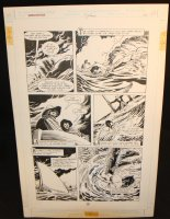 Legends of the Dark Knight #19 p.20 - LA - Batman Rescues Alfred from Sharks - 1991 Comic Art