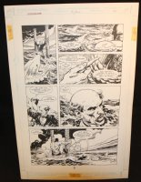 Legends of the Dark Knight #19 p.21 - LA - Batman Rescues Alfred from Sharks Action - 1991 Comic Art