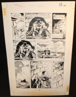 Legends of the Dark Knight #20 p.11 - LA - Batman and Alfred - 1991 Comic Art