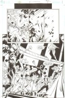JLA: Incarnations #5 pg 8 - Lots & Lots of Heroes 3/4 Comic Art