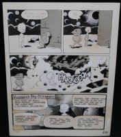 Lunar Tunes p.27 - LA - Comes with Pre Press Page - Wood's Last Comics Work  Comic Art