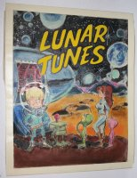 Lunar Tunes Cover Color Guide - LA - Wood's Last Comics Work  Comic Art