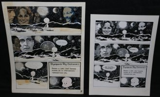 Lunar Tunes p.10 - LA - Comes with Pre Press Page - Wood's Last Comics Work Comic Art