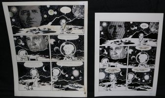 Lunar Tunes p.11 - LA - Comes with Pre Press Page - Wood's Last Comics Work Comic Art