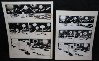Lunar Tunes p.14 - LA - Comes with Pre Press Page - Wood's Last Comics Work Comic Art