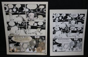 Lunar Tunes p.18 - LA - Comes with Pre Press Page - Wood's Last Comics Work Comic Art